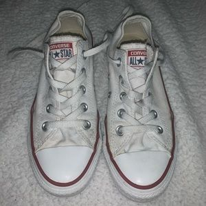 Gently used low top white converse